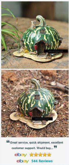 Green Pumpkin Gift Decor Fairy House Gnome Garden Mini Sculpture Gourd