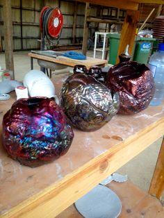 DIY Raku'd Balloon Garden Bowls
