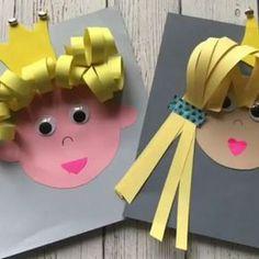 - Easy Crafts for All Animal Crafts For Kids, Crafts For Kids To Make, Projects For Kids, Easy Crafts, Diy And Crafts, Arts And Crafts, Paper Crafts, Alphabet Letter Crafts, Kindergarten Art Lessons