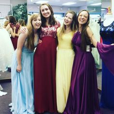 Look at these U of U girls in our gorgeous dresses. Aren't they cute? #formaldresses  #prettynewdresses  #stgeorgeutah  #boulevardbridalprom