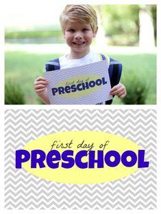 First Day of School Printables Preschool through 8th grade {FREE}
