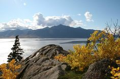 Cook Inlet, Chugach State Forest near Anchorage, Alaska in fall.  Just gorgeous