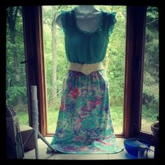 vintage skirt made out of sweatshirt material.