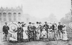 """""""The contingent from the West Kent Archery Society at the Grand National Archery Meeting at Cheltenham in 1887. The tallest of the ladies is Mrs Berens, who became an internationally famous archer."""""""