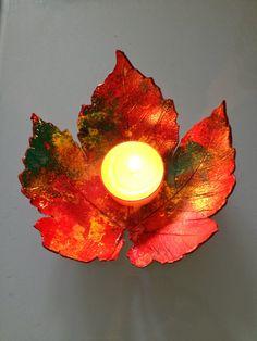 En voyant les petites feuilles d'automne sécher et se recroqueviller sur elle-même, j'ai eu une petite idée....pourquoi ne pas faire un vide...