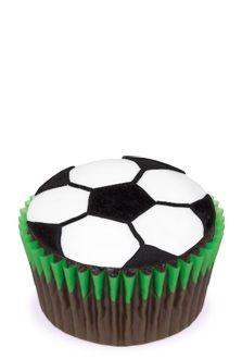 Soccer (Football) Ball Cupcakes