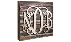 Groupon - Natural or Painted Monogram Mounted on a Wooden Board from… Large Wooden Letters, Wooden Initials, Wooden Monogram, Monogram Initials, Painted Monogram, Letter Monogram, Parts Of The Letter, Wooden Pallet Signs, Monogram Painting