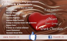 Few Good Reasons Why you should Eat #DarkChocolate :: www.meetdr.in   our facebook page: www.facebook.com/meetdr.in