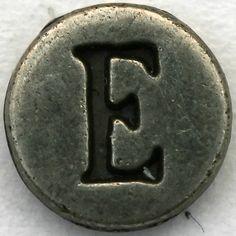 Pewter Letter E by Leo Reynolds, via Flickr
