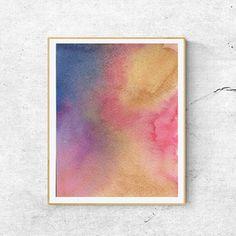 Colorful Watercolor Art Print Abstract Watercolor Art Print
