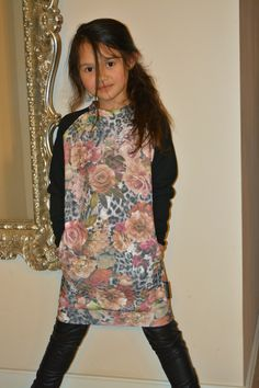 Jaeleigh modelling her new sweatdress & legging made by Wazzhappening