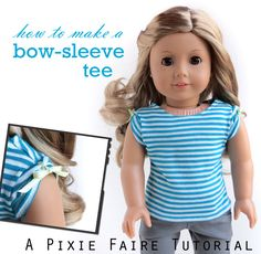 Bow Sleeve Tee | Free DIY Tutorial on Pixie Faire