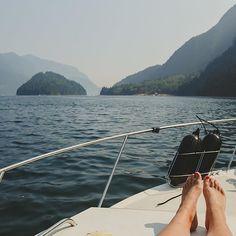 Summer cruising along Indian Arm in North Vancouver.   (photo: @rachelbarkman via Instagram) #exploreBC #explorecanada