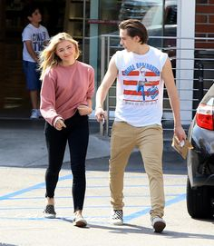 Brooklyn Beckham and Chloë Grace Moretz held hands while out as a couple in LA.
