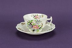 6 Persons Opulent Art Deco Pottery Cup Saucer TEA SET Combine Vintage White Woodstock Booths Gift English Circa 1930 LS *** Want additional info? Click on the image.