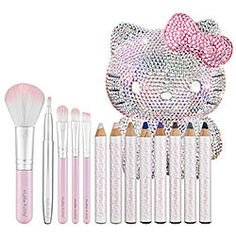 Collection Hello Kitty Glittercute Collection Made With Swarovski Elemen Sephora Collection Hello Kitty Glittercute Collection Made With Swarovski Elemen. -Sephora Collection Hello Kitty Glittercute Collection Made With Swarovski Elemen. Makeup Kit, Makeup Brush Set, Love Makeup, Makeup Products, Sparkly Makeup, Kids Makeup, Awesome Makeup, Hello Kitty Makeup, Hello Kitty Items