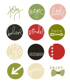Printable -- Circle Christmas Labels from Heidi Swapp
