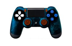 PS4Controller-BlueZombieHazard | Flickr - Photo Sharing! #PS4controller #PS4 #PlayStation4controller #customcontroller #moddedcontroller #dualshock4