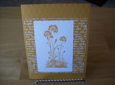 Gold Plant Handmade Greeting Card  Happy by janzcardsandgifts