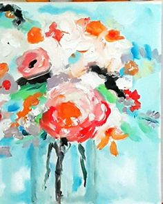"""""""Blooms""""  Oil on canvas 18"""" x 24 $675 Framed"""