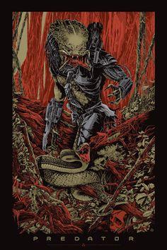 Mondo's limited edition _Predator_ poster by Ken Taylor