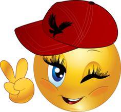 A smiley wink. Emoji Happy Face, Funny Emoji Faces, Emoticon Faces, Funny Emoticons, Thumbs Up Smiley, Love Smiley, Emoji Love, Emoji Images, Emoji Pictures
