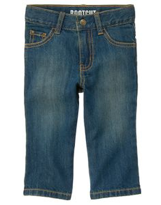 Wash our jeans over and over and they still look great. Sits slightly below the waist and is narrower through the knee with a bootcut leg opening.