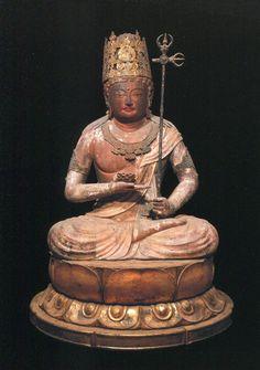京都  神護寺。 蓮華虚空菩薩。平安時代。9世紀。国宝。多宝塔に安置されている。
