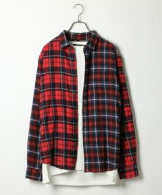 RAGEBLUE(レイジブルー)の起毛チェックシャツ/733811(シャツ/ブラウス) レッド系その他