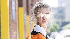 74d480dc5c91d نظارات شمسية بعدسات مرآة لتتألقي بها طوال فصل الصيف  layalina Cool  Sunglasses