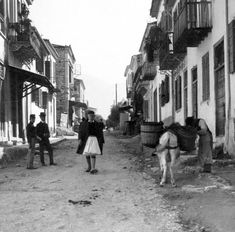 Street scene, Patras, Greece, Keystone View Co. Library of Congress Prints and Photographs Division Washington, D. Patras, Photographs Of People, Vintage Photographs, Old Greek, Greek History, Family History, Still Picture, Athens Greece, Library Of Congress