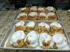 Fresh Cinnamon Rolls from the Palmetto Dunes General Store, Hilton Head Island