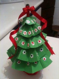 Arvore Natal de Papel Arte Fatos by LoBo