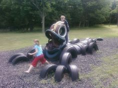 tire art on the playground | ... types of playground especially this playground looks interesting to