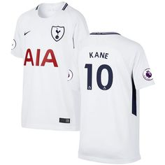 Harry Kane Tottenham Hotspur Nike Youth 2017 18 Home Replica Patch Jersey -  White - d9fd1e340