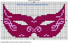 masks of mardi gras cross stitch pinterest - Google Search
