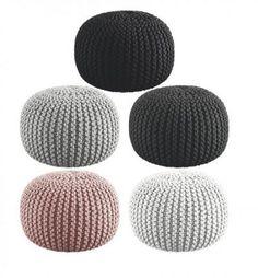 Puf - strikket i Zpagetti Knit Pillow, Stylish Bedroom, Knit Picks, Knitting Yarn, Diy Gifts, Diy And Crafts, Knit Crochet, Pattern, Handmade