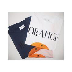 ganni orange t-shirt