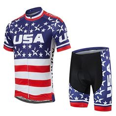 Uriah Mens Cycling Jersey and Shorts Sets Short Sleeve American Freedom  Size XXLCN     26c988b49
