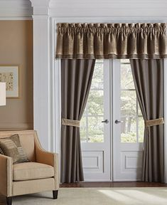 Transform any room into a well-appointed space brimming with style when you update your window treatments with this Benson set of two panels from Croscill, featuring a dove gray ground and contrasting striped tiebacks. Rod Pocket Curtains, Drapes Curtains, Valance, Aichi, Window Panels, Curtain Panels, Space Furniture, Window Treatments, Windows