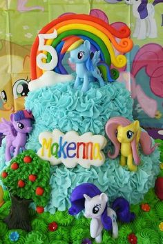 Check out this fun My Little Pony birthday party! The cake is so cool! See more party ideas and share yours at CatchMyParty.com #catchmyparty #partyideas #mylittlepony #girlbirthdayparty #mylittleponyparty My Little Pony Cake, My Little Pony Birthday Party, Unicorn Birthday Parties, Girl Birthday, Bridal Shower Cakes, Gorgeous Cakes, Food Ideas, Birthdays, Party Ideas