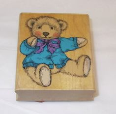 Hero Arts Teddy Bear rubber stamp Limited Edition L 646 Old Fashioned bear 1994  #HeroArts #ToysTeddyBears