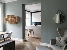 Image result for interiør 2017 Plain Wallpaper, Colour Pallette, Modern Kitchen Design, Wall Colors, Breeze, Dining Room, Wall Decor, Flooring, Interior Design
