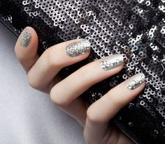 Bling @Marlana Daily guedea Silver  for long rounded nails!