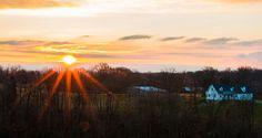 Farm Photograph - Sunrise On The Farm by Edie Mendenhall