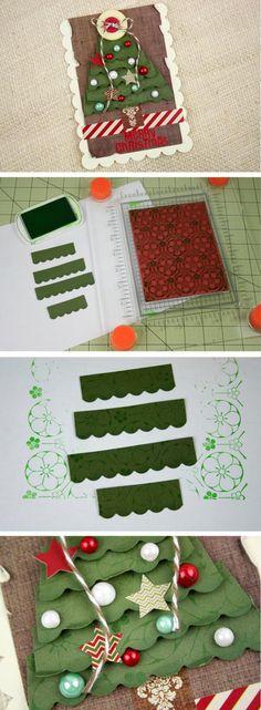 Simple holiday gift tag idea using basic Fiskars tools at www.fiskateers.com