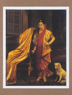 Buy Princess Tarabai by Raja Ravi Varma Canvas Print Painting 26.5in x 21in Online at Jaypore.com