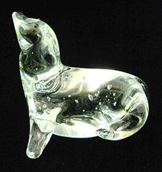 New Clear Glass Sea Lion Figurine Paperweight Head Raised Bubbles Intentional Global Village http://www.amazon.com/dp/B01C215FEU/ref=cm_sw_r_pi_dp_VoLYwb1768KZE