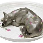 Hand-Painted Ceramic Bowls Filled with Detailed Hippos, Foxes and Deer