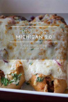 Hot-dog michigan réinventé ! Un pur délice à la chair à saucisse  !  #hotdog #michigan #fromage #recette #grilled #sandwich